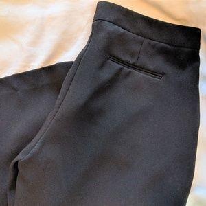 Black Express Wide Leg Capris Work Wear